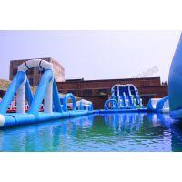 定做水上乐园设备厂家户外大型动漫水上滑梯充气水滑梯游乐设备pvc