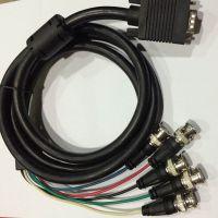专业线材 VGA转BNC线 RGBHV 大屏幕线 VGA转RGB VGA转5BNC