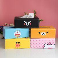 可爱卡通PU皮皮革纸巾盒餐巾纸盒抽纸盒客厅厨房纸巾抽纸巾套