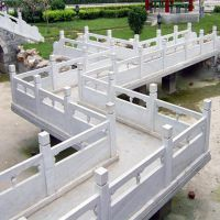 河岸石头护栏/河边花岗岩石材护栏/河道雕花石栏杆什么价格