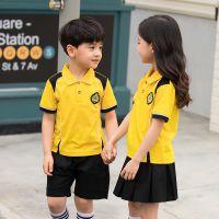 幼儿园园服夏装短袖儿童班服英伦风小学生校服合唱服运动套装定制