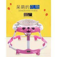 新款儿童熊猫带音乐灯光学步车带早教可折叠宝宝滑行车 批发