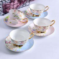 浩新瓷业厂家批发骨瓷咖啡杯碟 陶瓷咖啡具套装 礼品下午茶水杯可定制logo