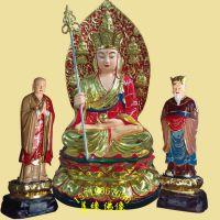 88公分闵公道明菩萨左右护法玻璃钢树脂佛像 寺庙供奉