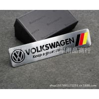 德国高尔夫车标 CC 车贴 大众改装汽车贴标 个性标 金属车标