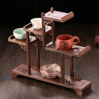 简约茶架装饰茶柜新中式实木博古架禅意复古展示酒架茶室仿古现代