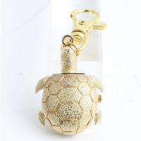 欧美热卖金色乌龟怀表 时时尚学生卡通表 儿童挂表 钥匙扣表批发