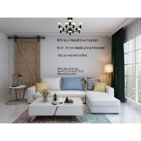 兔宝宝布艺沙发,储物国能,北欧风格,组合转角沙发