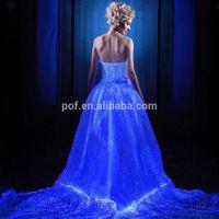 光纤发光婚纱 智能发光面料 光纤发光布料 夜光面料 婚纱时装面料