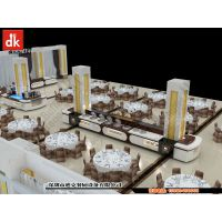 深圳迪克森实木成套餐桌椅卡座 简约现代人造石自助餐台 自助餐厅装修设计