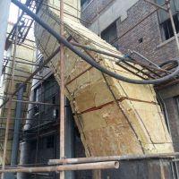包头热电厂设备排烟管道岩棉板保温施工队彩钢板外护层安装