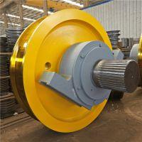 起重机主动被动车轮组 直径500*150电动平车台车车轮组 轴承箱承重轮 可定做