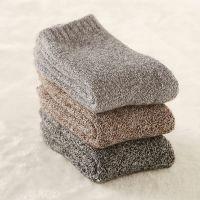 秋冬季羊毛袜超厚大毛圈加厚保暖袜子男女休闲东北棉袜中筒袜地板