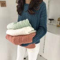 河北衡水大量秋冬季羊毛衫针织衫毛衣批发 韩版时尚加厚女装毛衣批发