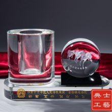 重庆市供应单位年会礼品制作,送员工的实用纪念品,水晶内雕工艺品定做