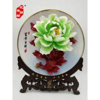 北京花开帝都手绘釉上彩牡丹瓷 广东釉下彩牡丹瓷