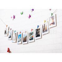 7寸动物9张创意DIY照片墙组合纸相框悬挂照片送夹子和麻绳