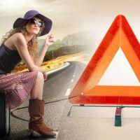 国标汽车用三脚架车载灭火器三角架警示牌紧急停车障碍指示反光牌