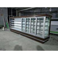 水果保鲜柜火锅店喷雾器加湿柜仟曦风幕柜多少钱一米