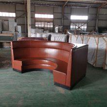 上海简约软包半圆形卡座沙发定做加工厂
