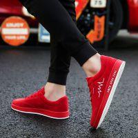 春季韩版潮流青少年板鞋百搭红色小红鞋潮鞋中学生运动休闲男鞋子