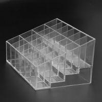 24格亚克力口红架透明14.5*10.5*7cm家居用品化妆品收纳盒化妆盒