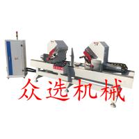 众选木门双端切角锯设备多功能自动木门切角锯