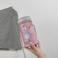 仙女包包2018新款潮韩版百搭易拉罐手机包少女单肩斜挎迷你链条包