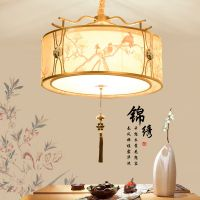 现代新中式灯具餐厅书房铁艺卧室灯饰圆形饭厅灯阳台门厅走廊吊灯
