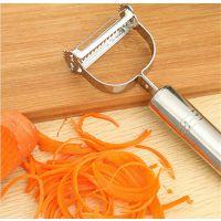 不锈钢厨房多用小工具削皮刨多功能刮皮器双头刀外贸爆款生活用品