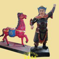 河南邓州善缘佛像厂定制批发木雕 石雕 树脂彩绘贴金拉马小童神像