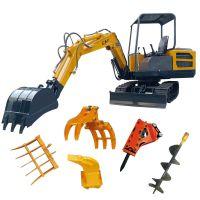 农村拆房子用小型挖掘机 挖地基履带挖掘机