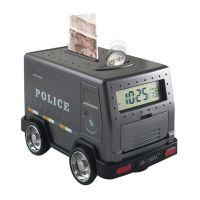 儿童玩具投币储蓄罐密码大号存钱罐卡通运钞车储钱柜小汽车闹钟