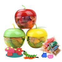 12色彩泥 儿童益智创意苹果梨型橡皮泥 环保玩具 彩泥厂家批发