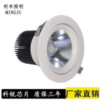 厂家直销LED射灯 酒店照明5W至40W天花孔灯 商场亮化天花筒射灯