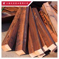 厂家销售 南方松 樟子松 花旗松碳化木 深度碳化木 户外装修材