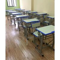 合肥培训课桌椅厂家销售 塑料课桌 简约书桌 学生学习桌