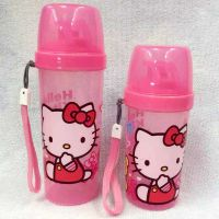 HelloKitty凯蒂猫KT猫卡通直饮带杯盖水杯便携儿童水壶出游1