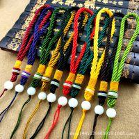 玻璃珠手把绳   饰品配件手把件挂绳玉器挂绳佛珠挂绳包挂绳挂件