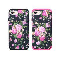 新款玫瑰花iphone7/x/plus三合一苹果8创意防摔手机保护套 女款潮