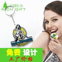 新品爆款可爱迷你挂件可以两面放照片创意礼品汽车钥匙扣PVC