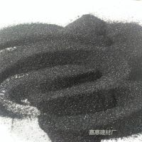 天然彩砂 耐磨耐腐蚀地坪用亮黑砂 彩砖骨料砂