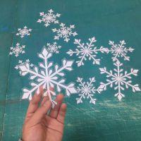 布吉圣诞节雪花透明粘性高的贴纸uv打印喷绘厂家
