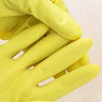 1840  厨房护肤乳胶家务手套 防水耐用清洁洗衣洗碗家居手套K