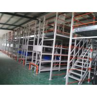 阁楼式仓库货架厂家供应,阁楼货架钢平台连体定制,人工存取便于快速分拣