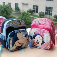 米奇米妮可爱儿童幼儿园书包男女3岁宝宝小孩双肩包帆布防水新品