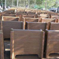 海阳批发水泥仿木花箱 专业设计新型水泥花桶厂家