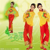 秧歌服2015新款中老年广场舞扇子腰鼓扭秧歌舞蹈服装女表演服