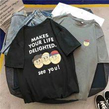 热卖女装短袖时尚半袖积压库存几块钱T恤圆领T恤厂家批发
