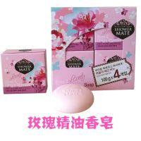 韩国进口正品爱敬卡莱丝玫瑰樱花精油香皂美容皂洁面皂保湿100g*4